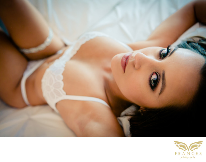 Crazy beautiful eyes Denver boudoir photography