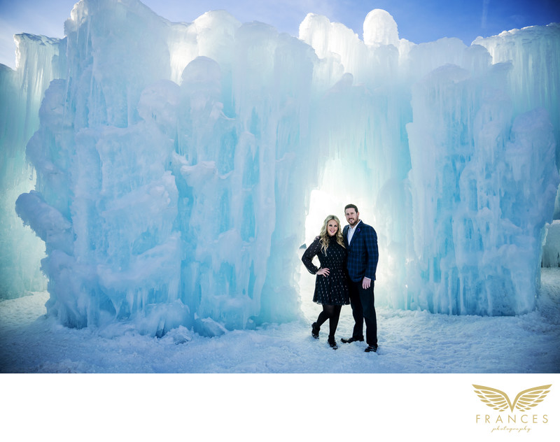 Chelsea Magness engagement photographs ice castle