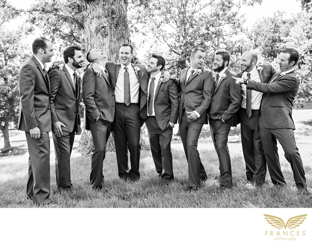 Denver Wedding Photographer Captures Groomsmen