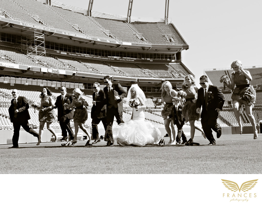 Top Denver Wedding Photographers Mile High Stadium