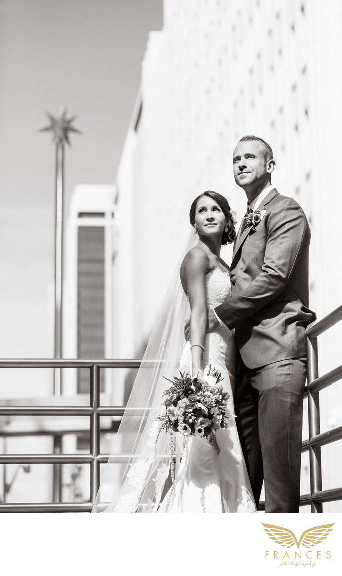 Denver wedding pictures Four Seasons couple