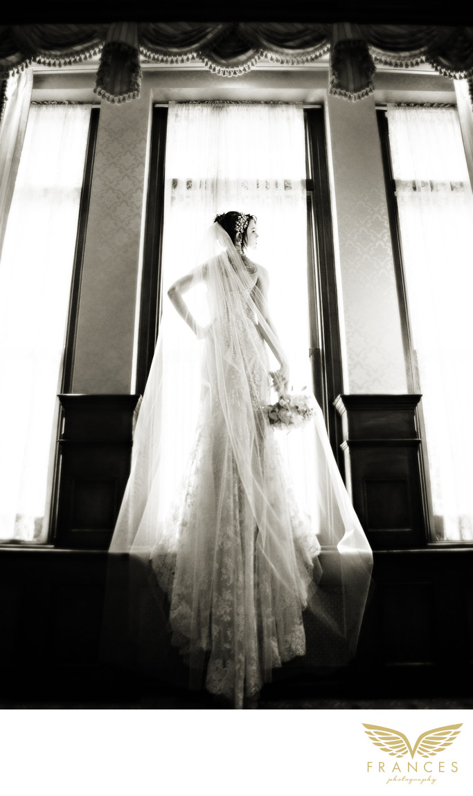 Brown Palace Denver wedding photographer bride