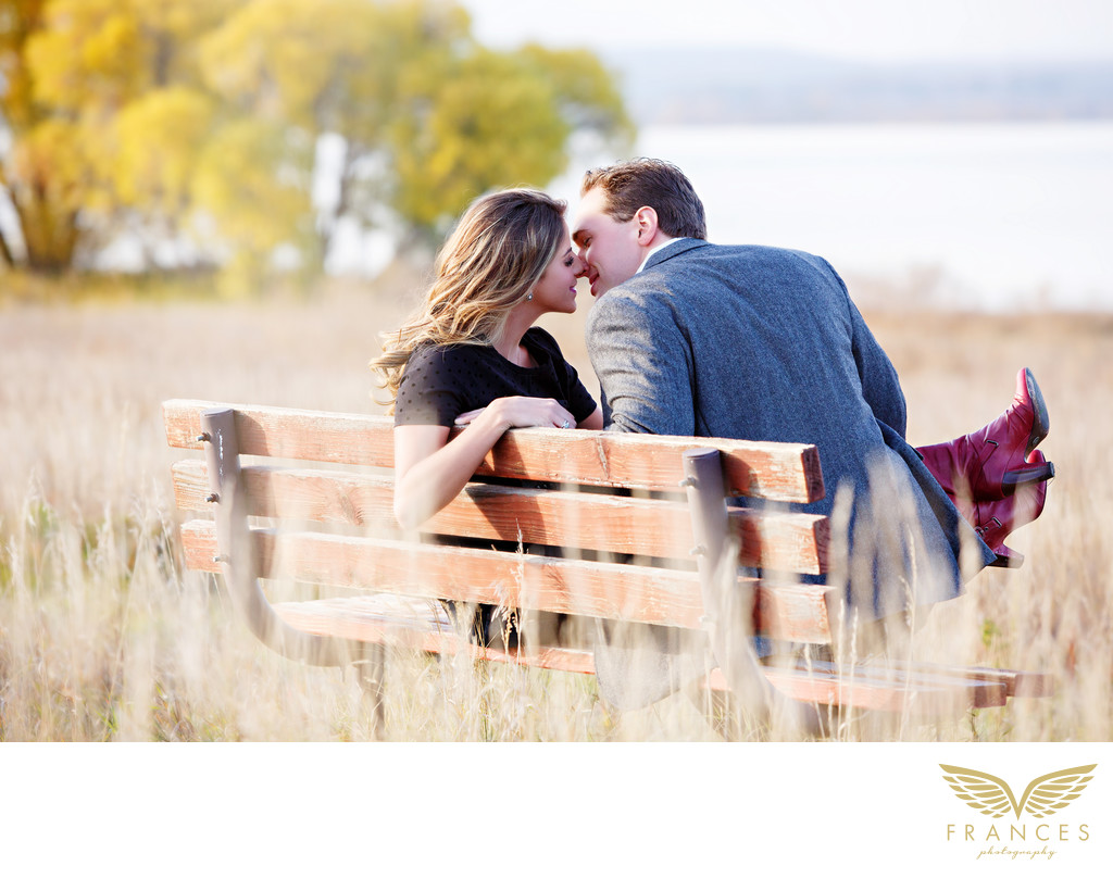 Standley Lake couple Denver engagement photos