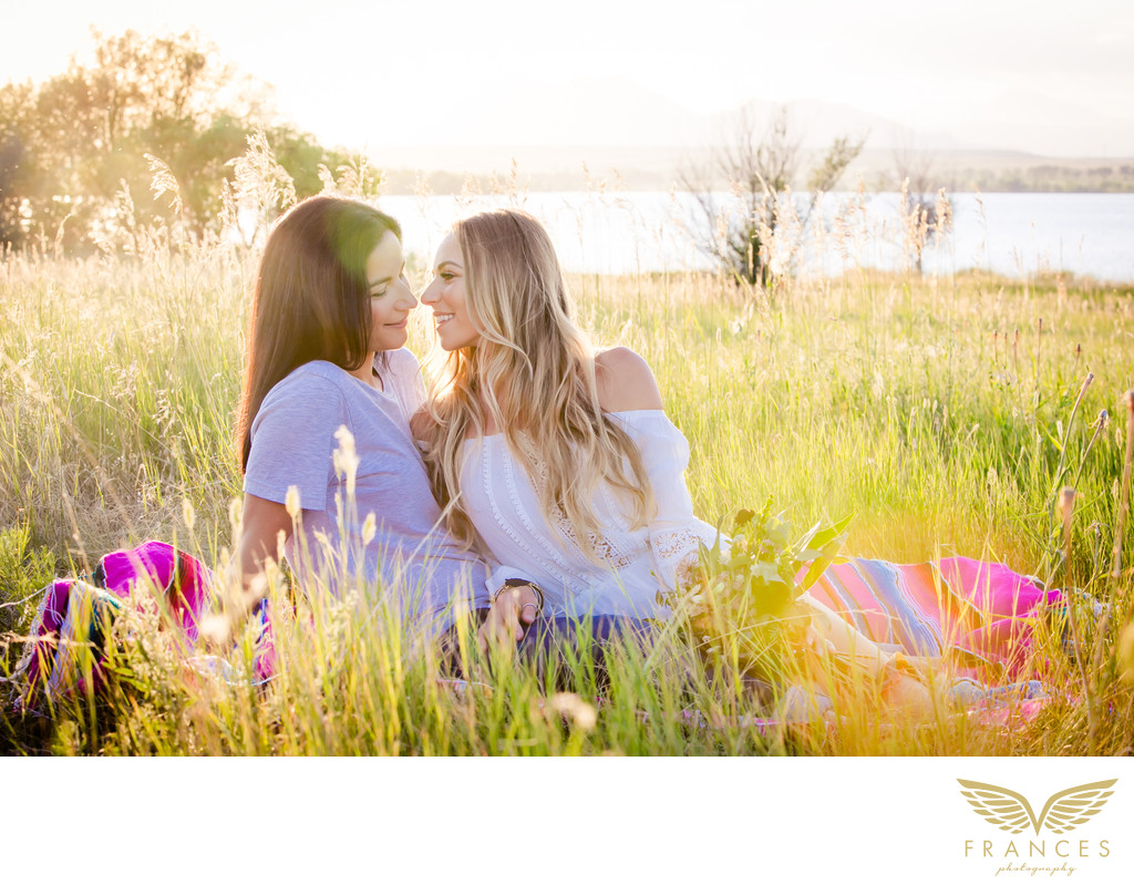 Same sex marriage Denver engagement photography