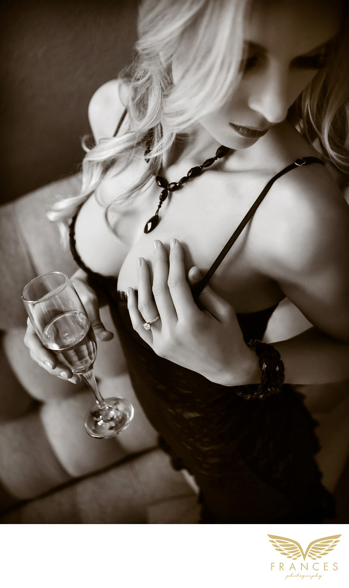 Black white boudoir images Denver photographers