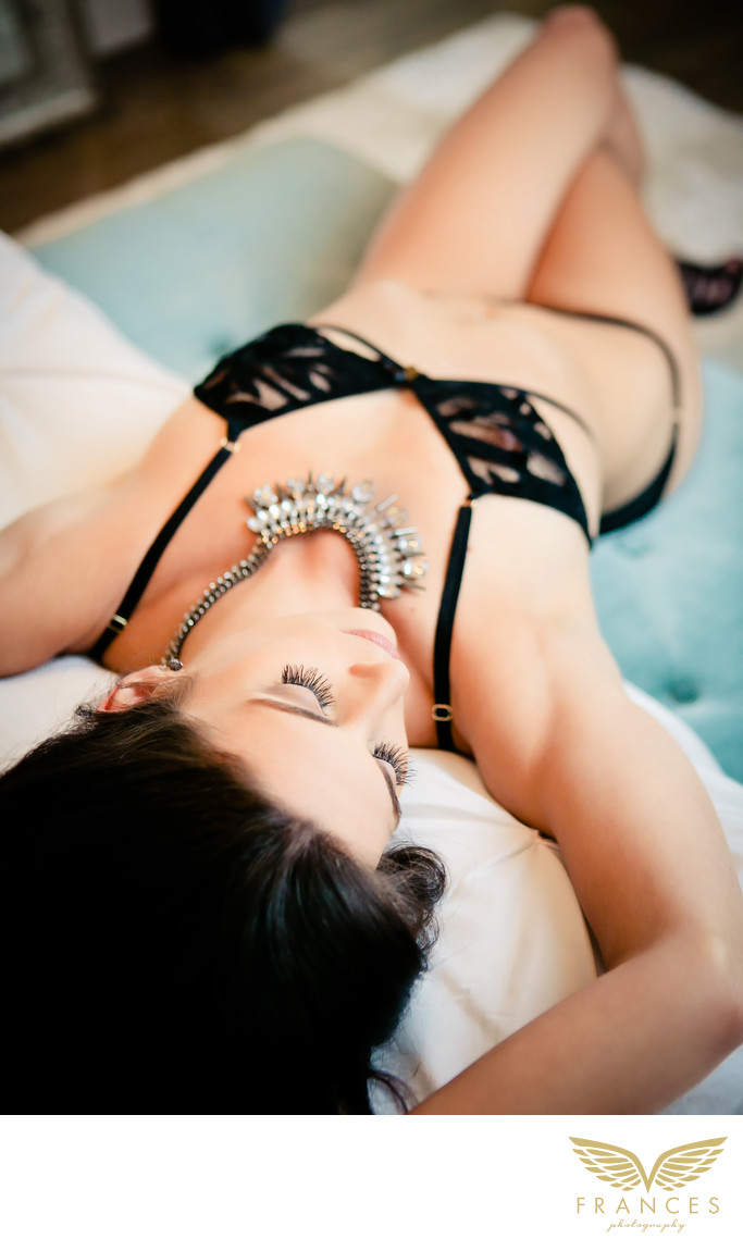 Bedroom boudoir photos confident sexy woman