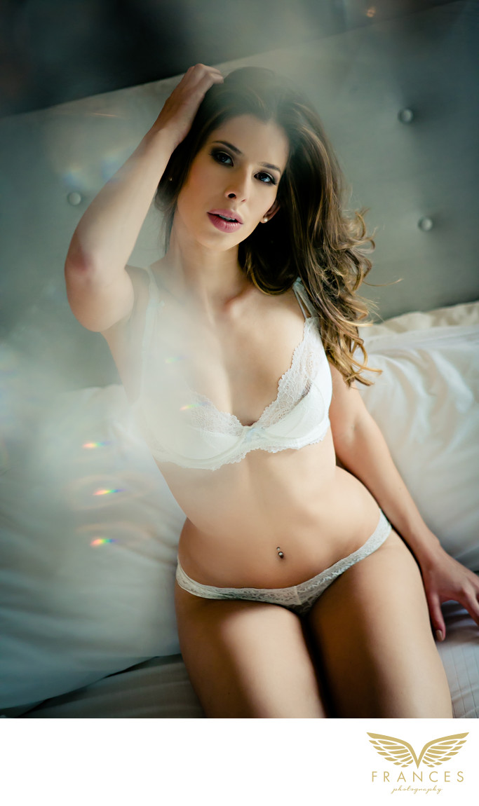 Beautiful brunette boudoir pictures Denver photographer
