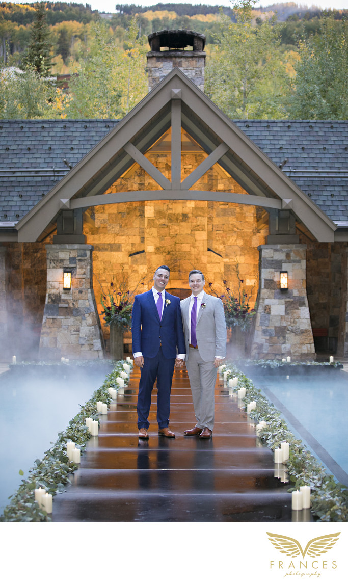 Vail wedding photographer gay marriage Four Seasons