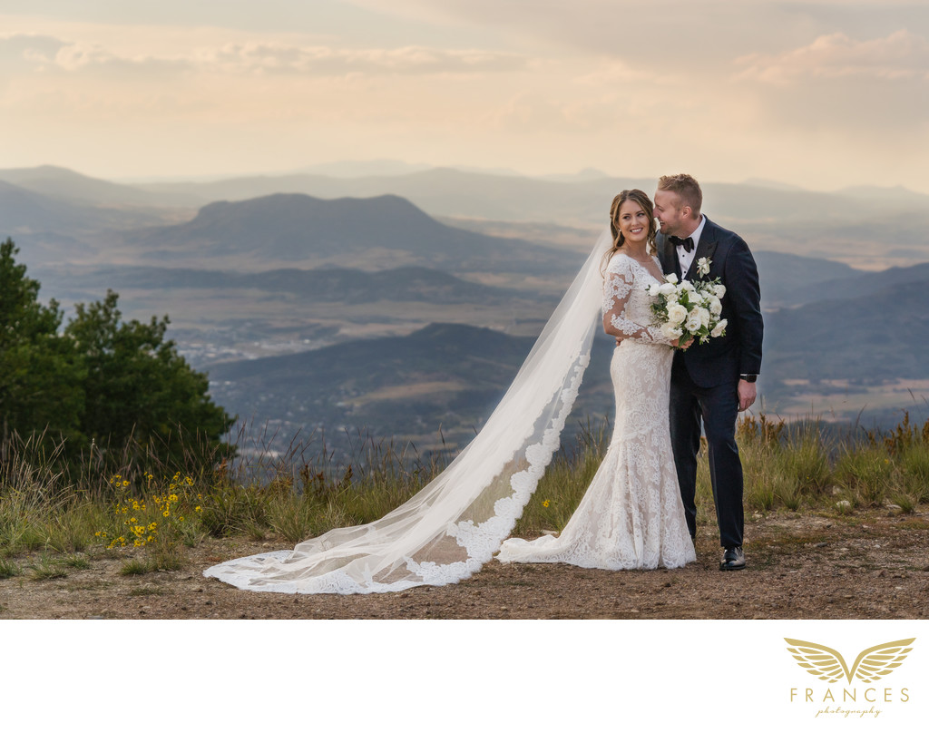 Bride and Groom Steamboat Springs Wedding Photographer