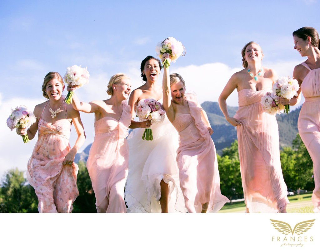 Bridal Party Wedding Photos Boulder Colorado