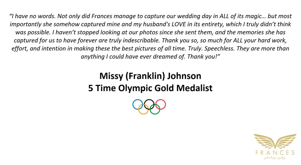 Wedding Photographer Reviews from Missy Franklin