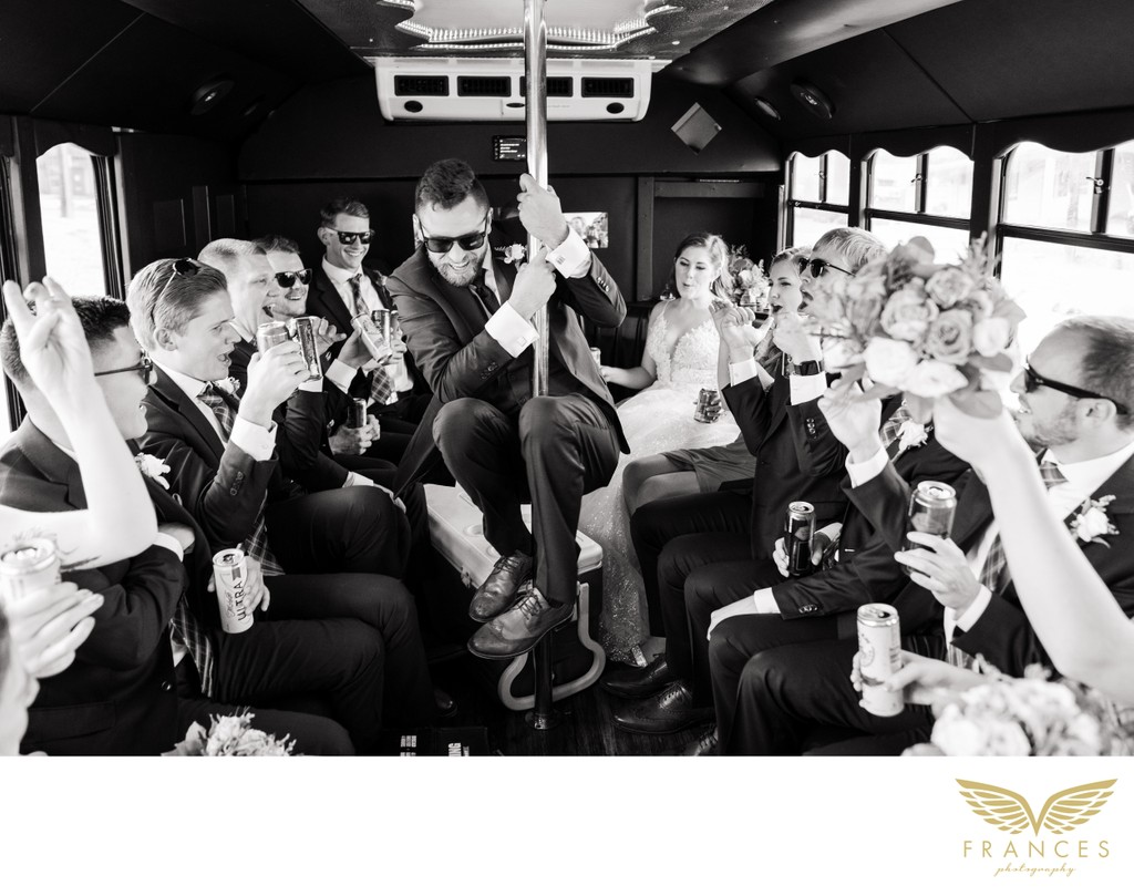 Party Bus Wedding Photos Colorado Springs Colorado