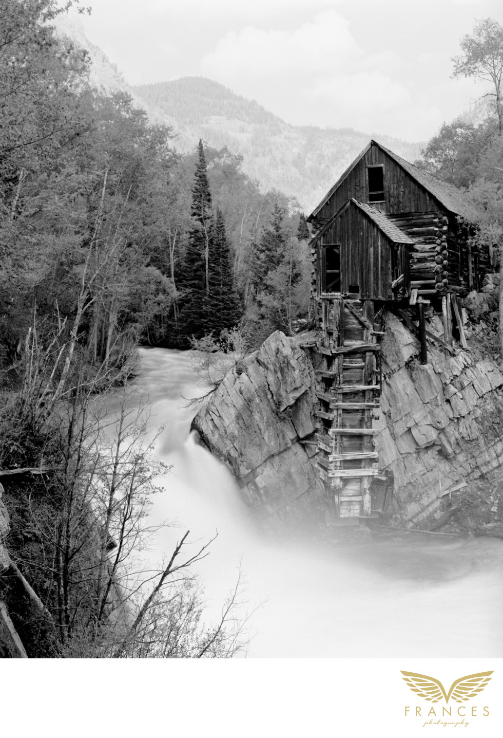 Black white photography Crystal Mill Colorado