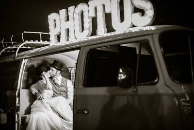 Bride and Groom Photos in a Denver Photography Booth
