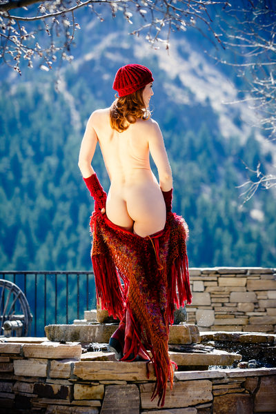 Outdoor boudoir photography Colorado Rocky Mountains
