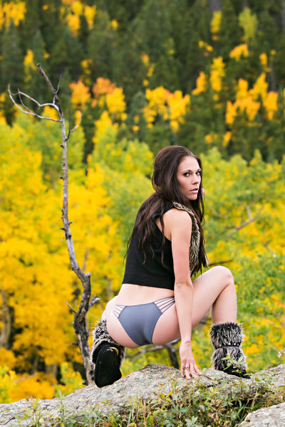 Fall colors outdoor boudoir photography shoot