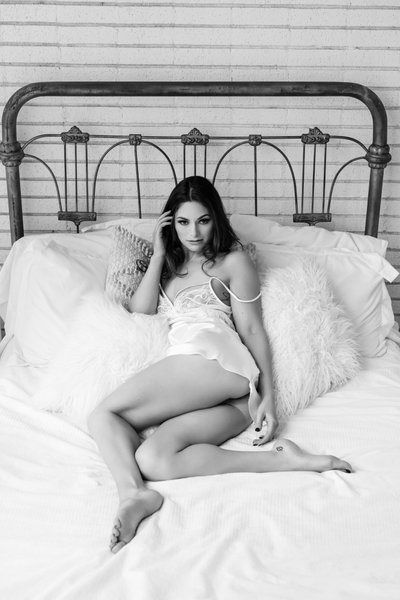 A Stunning Black and White Boudoir Portrait