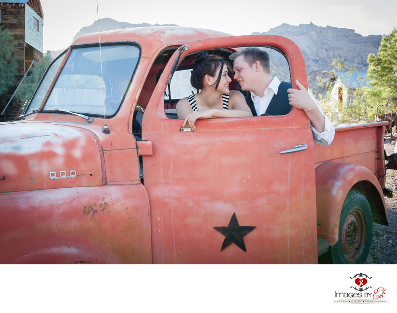 Las Vegas Nelson Ghost Town Eldorado Canyon Engagement Photographer