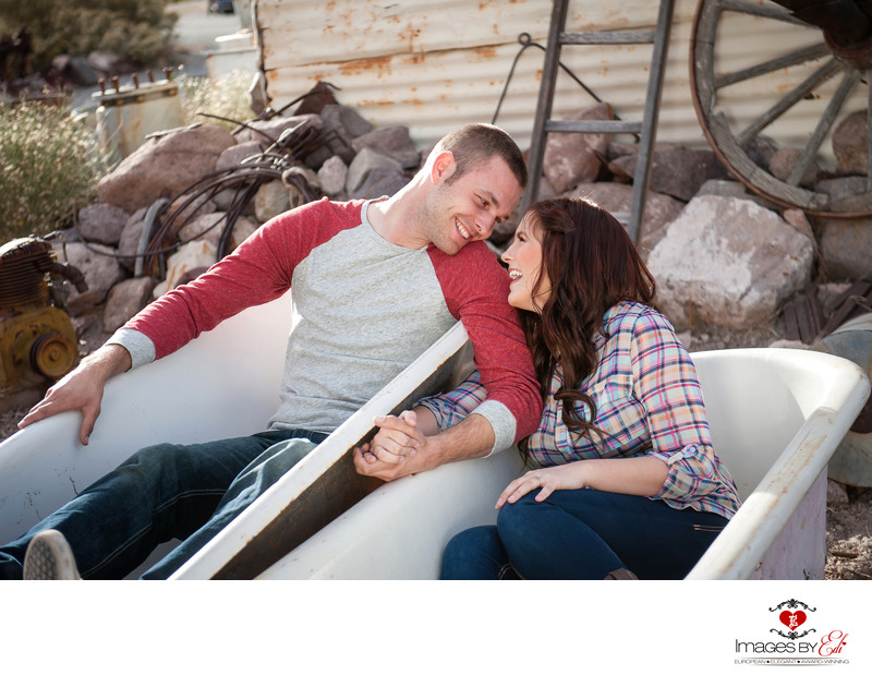 Nelson ghost Town Las Vegas Engagement Photos