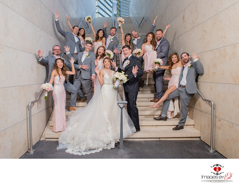Waldorf Astoria Las Vegas Wedding Photographer |Fun Wedding Party on the Las Vegas Strip | Las Vegas Wedding Photographer | Vegas  Elopement | Images by EDI