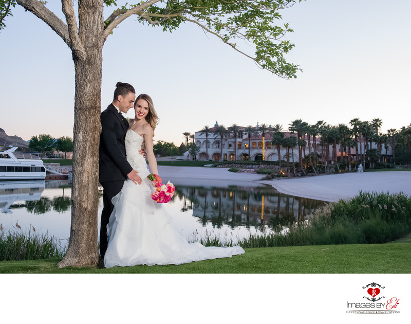 Reflection Bay Lake Las Vegas Wedding Photographer