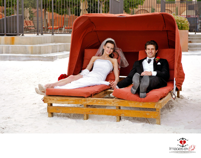 Westin Lake Las Vegas Wedding Photograph on the beach