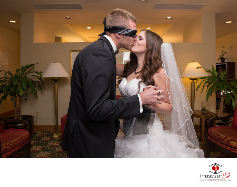 Blind folded First touch at Anthem Country Club Wedding