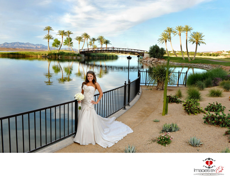 Bride at Westin Lake Las Vegas Wedding