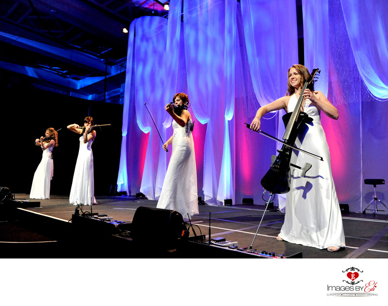 Westin Lake Las Vegas Resort corporate event photography with Electric String Group Entertainment
