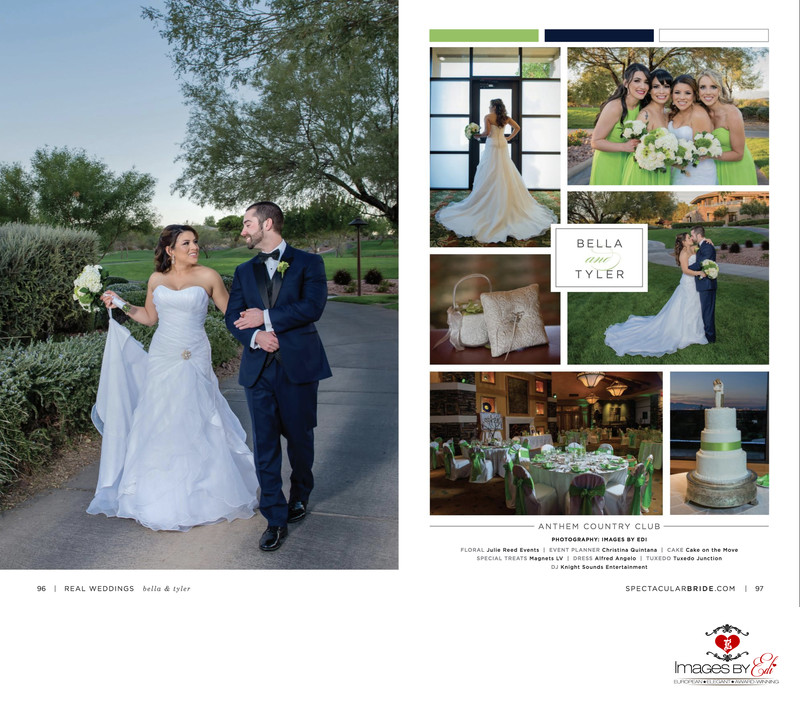 Bridal Spectacular features a Green-Themed Las Vegas Wedding at Anthem Country Club by Images by EDI