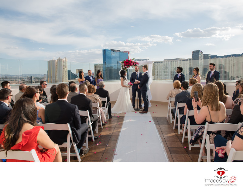 Platinum Hotel Las Vegas Misora rooftop wedding photographer