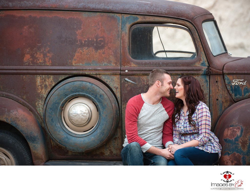 Best Las Vegas Nelson Ghost Town Engagement Photographer