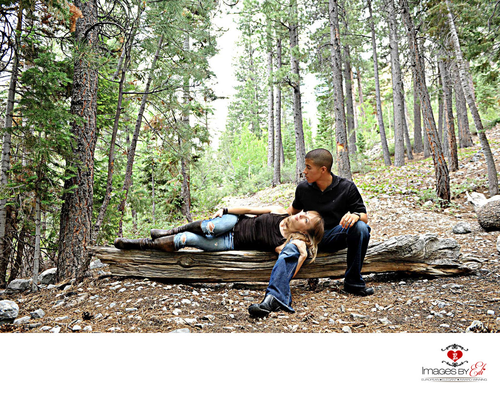 Mt Charleston Engagement Photographer
