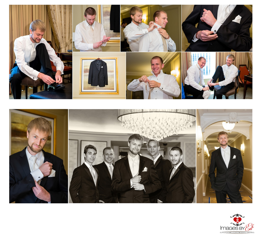 Hilton Lake Las Vegas Resort and Spa Wedding Album-groomsmen getting ready