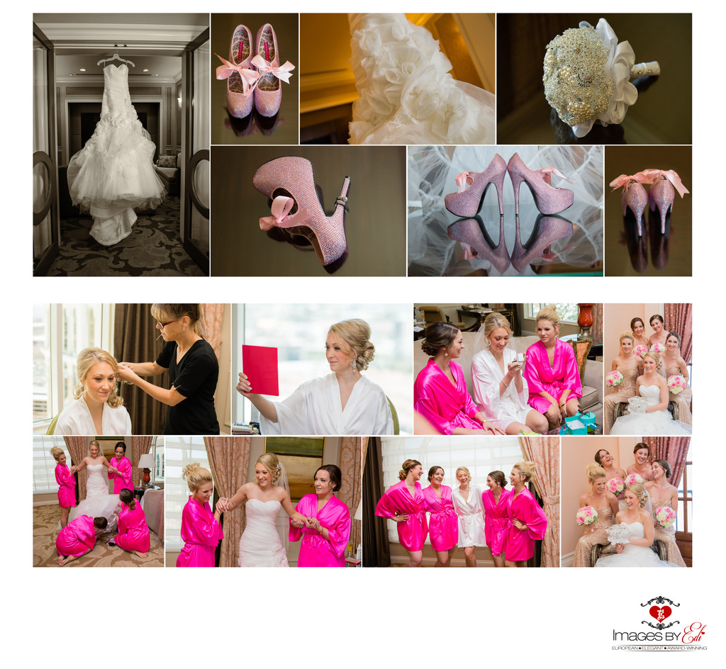Hilton Lake Las Vegas Resort and Spa Wedding Album-bridesmaids getting ready
