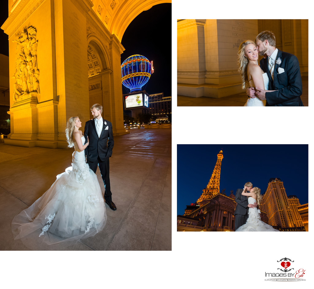 Hilton Lake Las Vegas Resort and Spa Wedding Album-Strip photo Tour by the Paris Resort