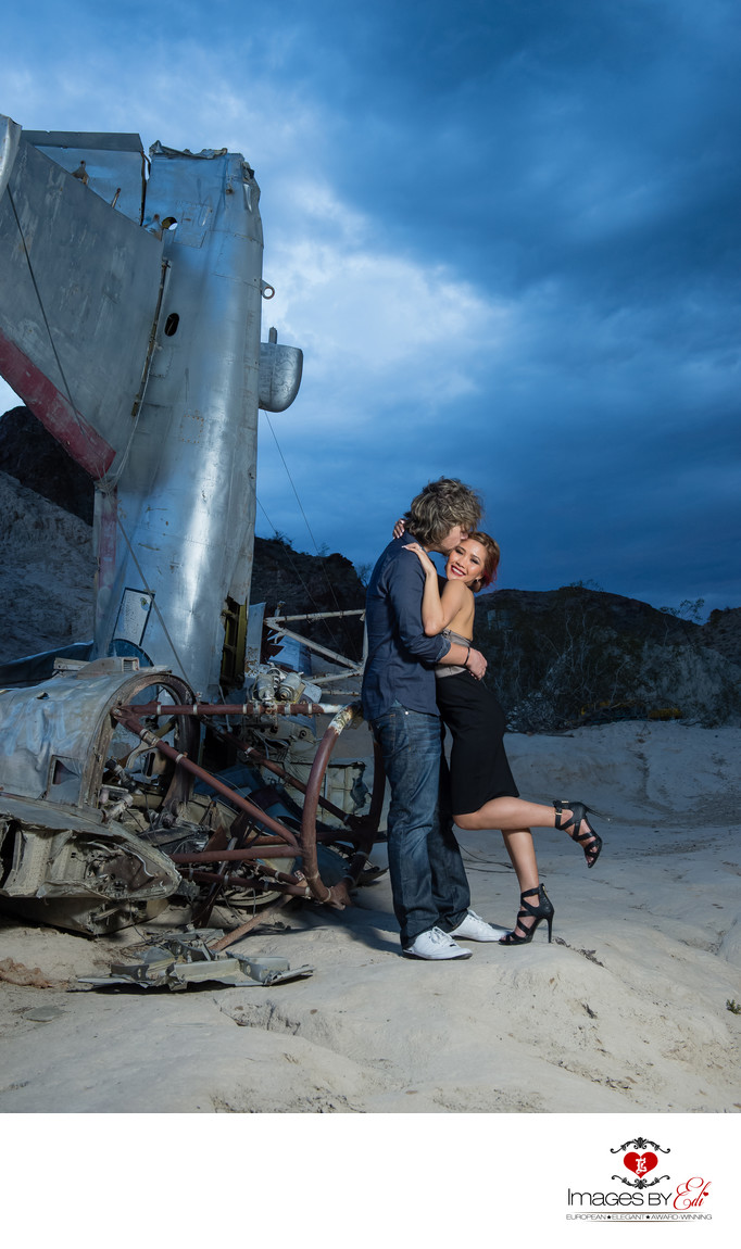 Best Las Vegas Engagement Photography at Nelson Ghost Town