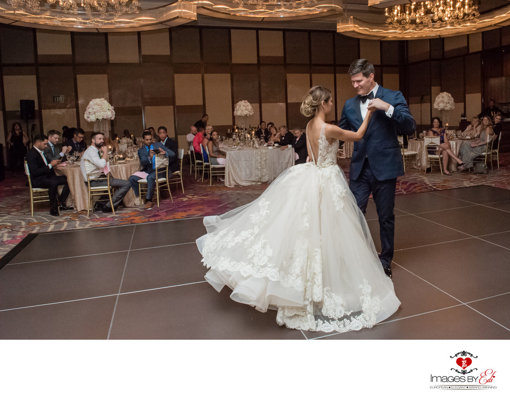 Waldorf Astoria Las Vegas wedding reception photo