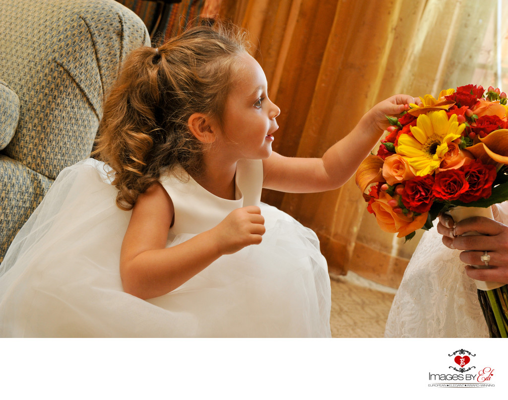 Westin Lake Las Vegas Wedding Photo with cute flower girl