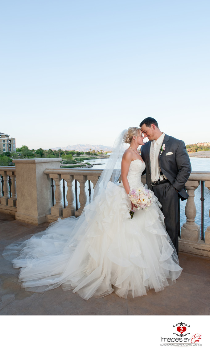 Hilton Lake Las Vegas Wedding Photography on the bridge