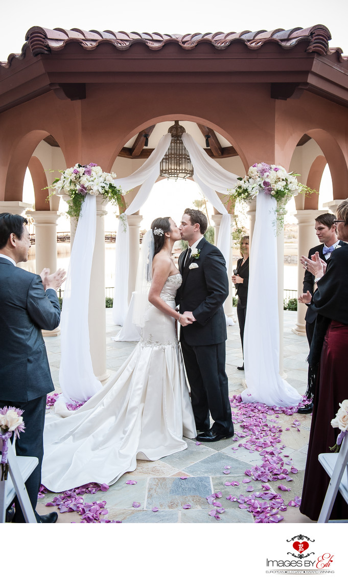 Westin Lake Las Vegas Wedding Ceremony Photography at the gazebo