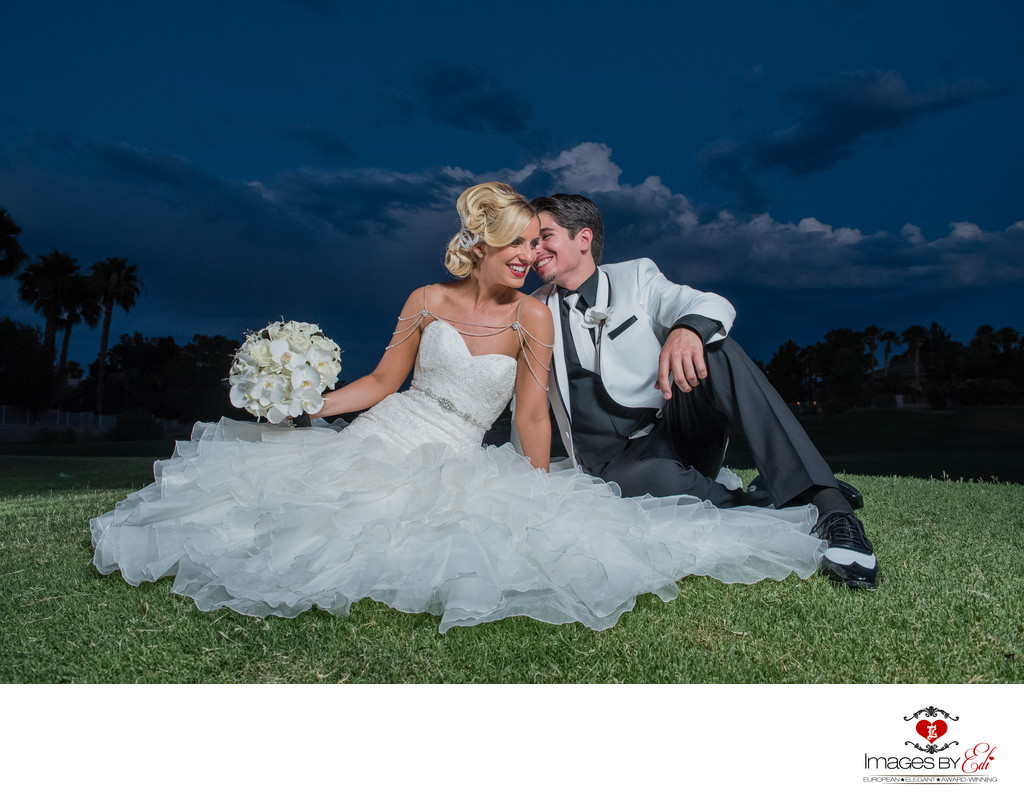 Revere Golf Course Las Vegas Wedding Photographer | Wedding Photo of the couple enjoying a moment together | Vegas Weddings|Images by EDI