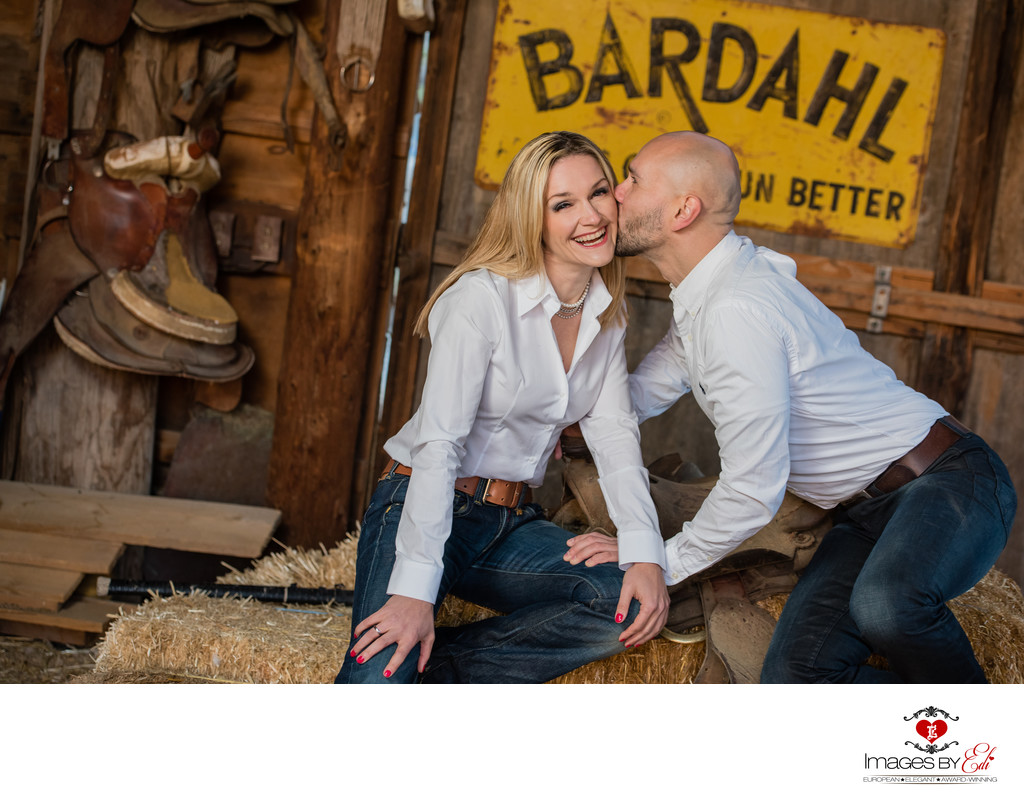 Nelson ghost town Engagement session