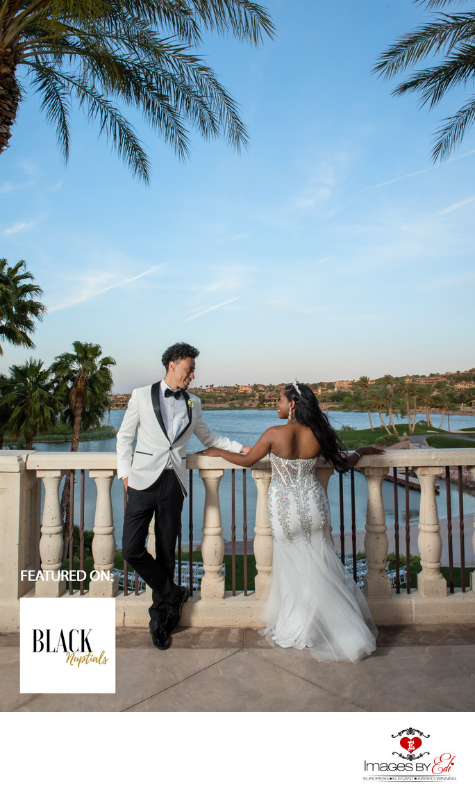 Reflection Bay Golf Club Las Vegas wedding is featured on Black Nuptials Wedding Blog