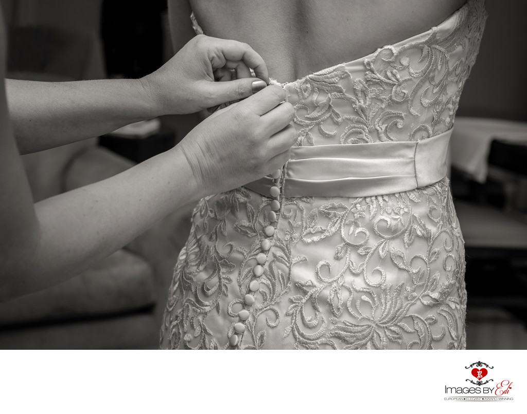 JW Marriott Las Vegas wedding Photo of the bride getting ready for her wedding
