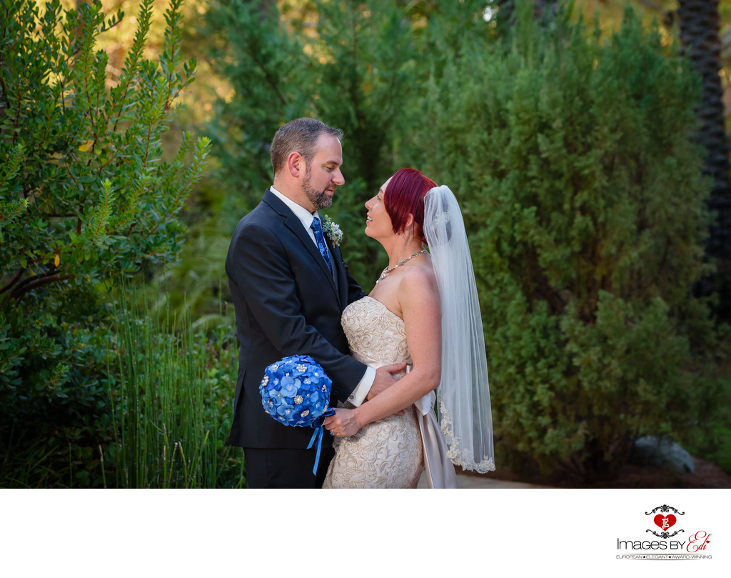 JW Marriott Las Vegas wedding Photo -a secret moment before the ceremony