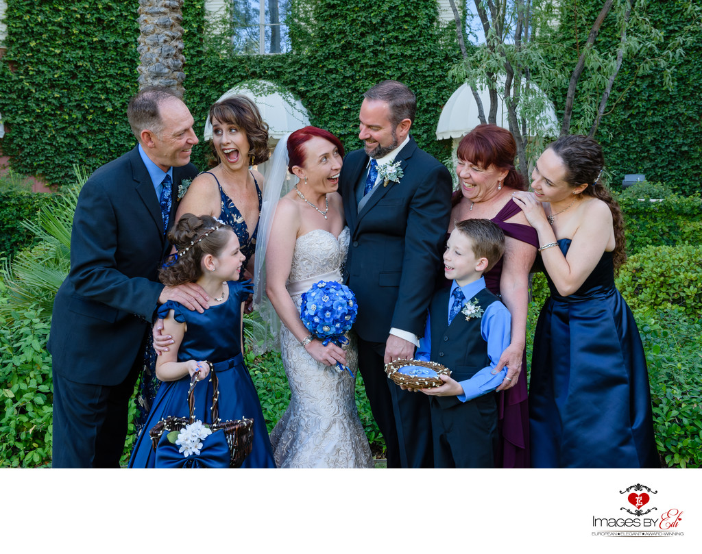 JW Marriott Las Vegas wedding Photo with family