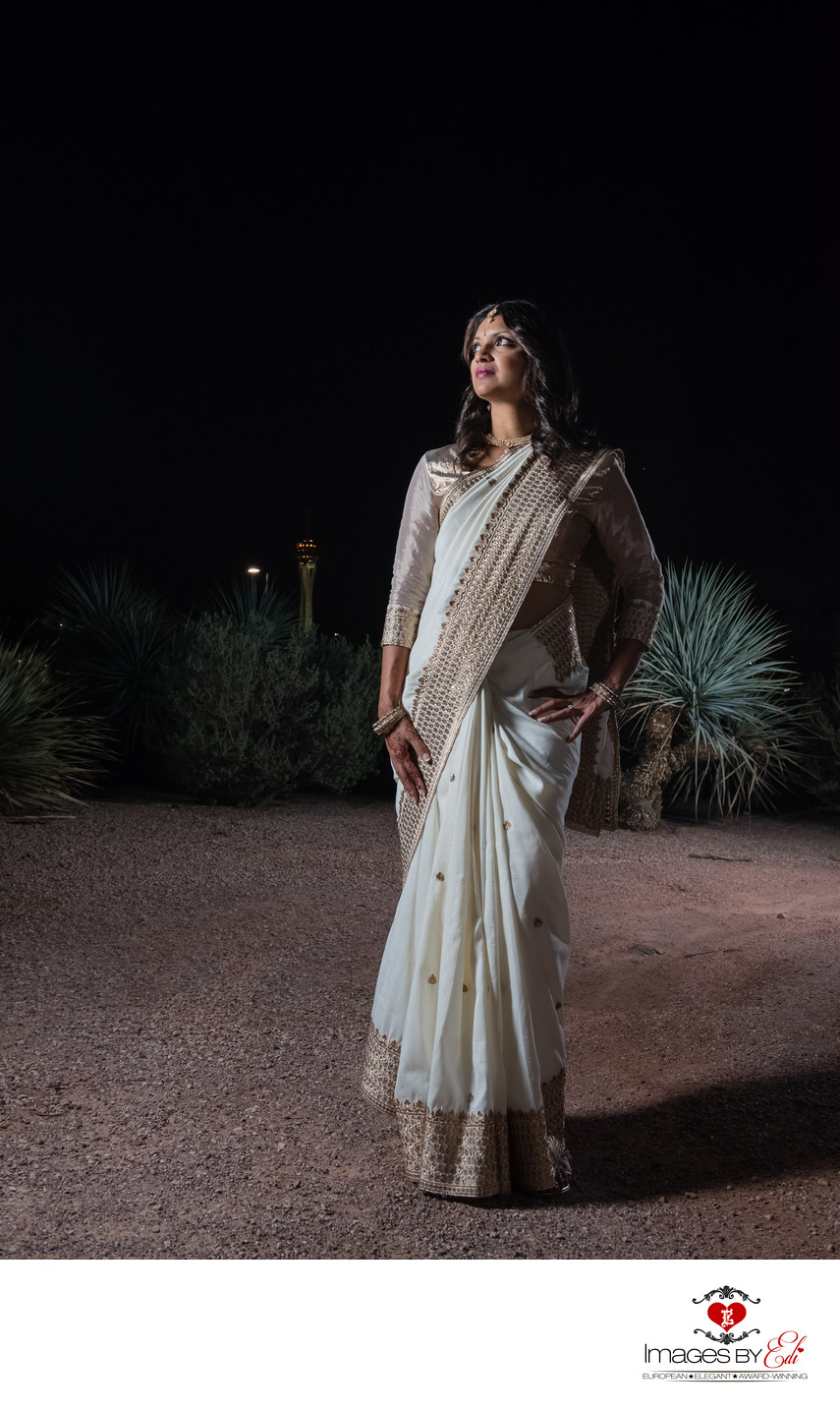 Las Vegas Indian bride alone