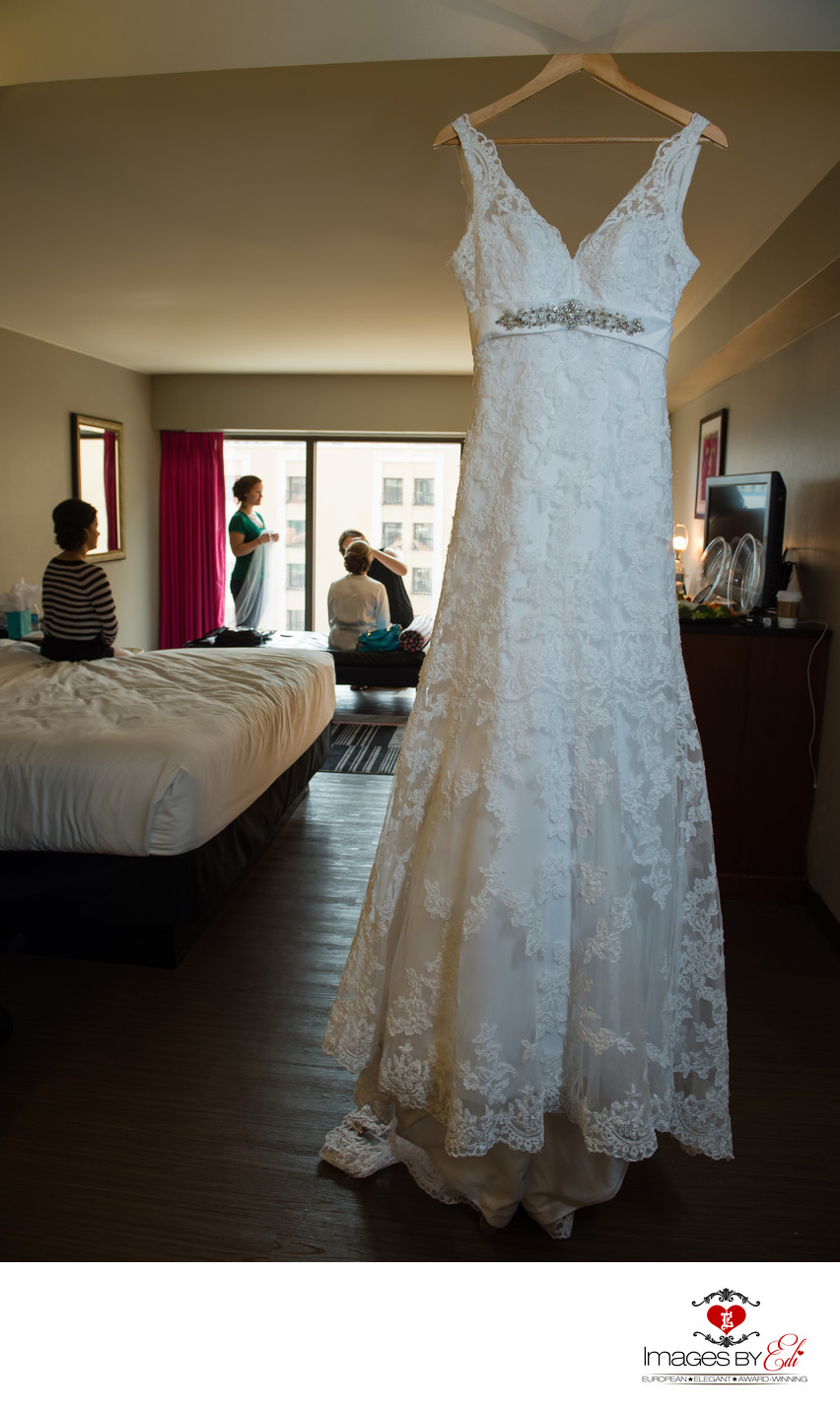 Bride gets ready at Flamingo hotel before Cili Bali Hai wedding