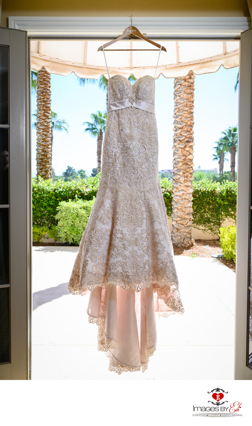 JW Marriott Las Vegas wedding Photo of the wedding dress
